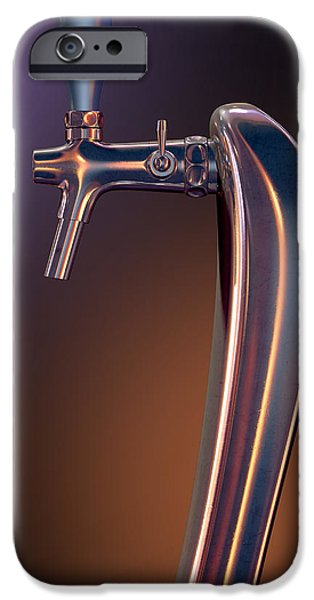 Faucet IPhone Case featuring the digital art Beer Tap Single Moody by Allan Swart