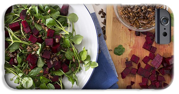 Beetroot Watercress Salad IPhone Case by Charlotte Lake