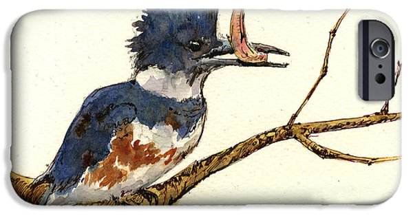 Belted Kingfisher Bird IPhone 6s Case by Juan  Bosco