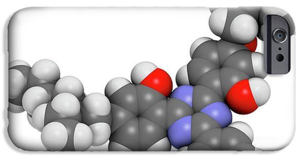 Bemotrizinol Sunscreen Molecule IPhone Case by Molekuul