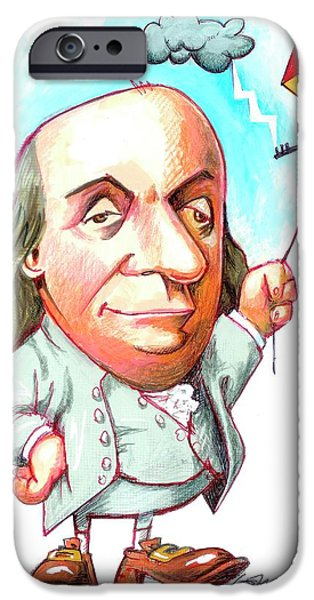 Benjamin Franklin IPhone Case by Gary Brown