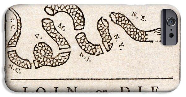 Benjamin Franklin's Join Or Die Cartoon IPhone Case by Benjamin Franklin