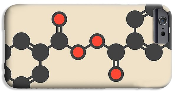 Benzoyl Peroxide Acne Drug Molecule IPhone Case by Molekuul