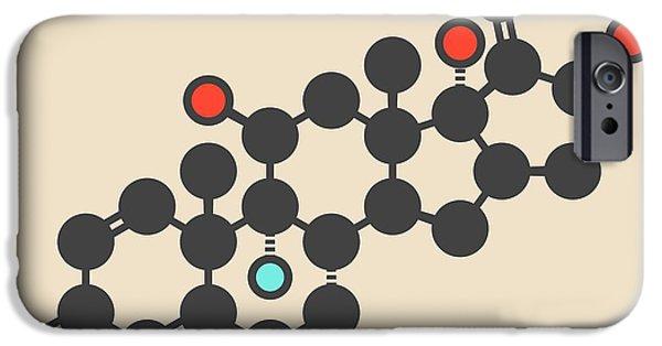 Betamethasone Drug Molecule IPhone Case by Molekuul