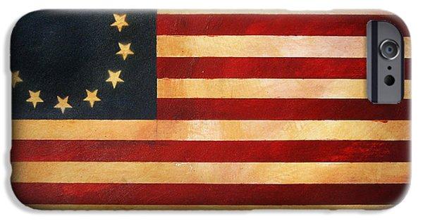 Betsy Ross Flag IPhone Case by Adam Varga
