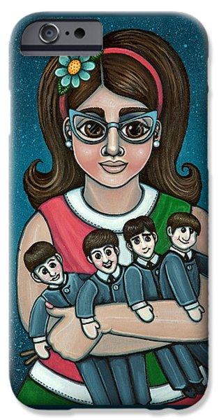 Betty Jeans Beatles IPhone Case by Victoria De Almeida