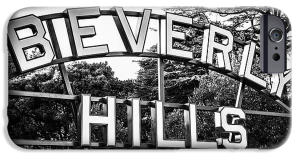 Beverly Hills Sign In Black And White IPhone 6s Case by Paul Velgos