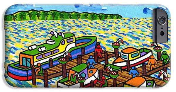 Big Dock - Cedar Key IPhone Case by Mike Segal
