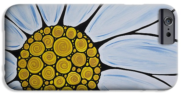 Big White Daisy IPhone Case by Sharon Cummings