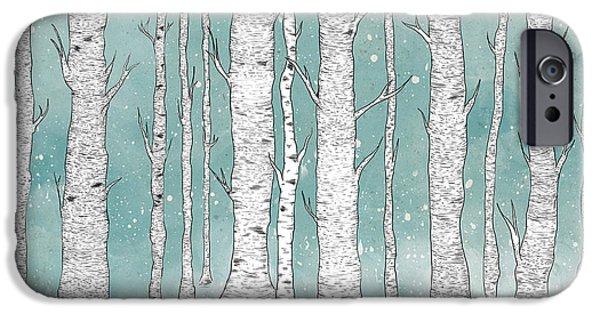 Birch Forest IPhone Case by Randoms Print