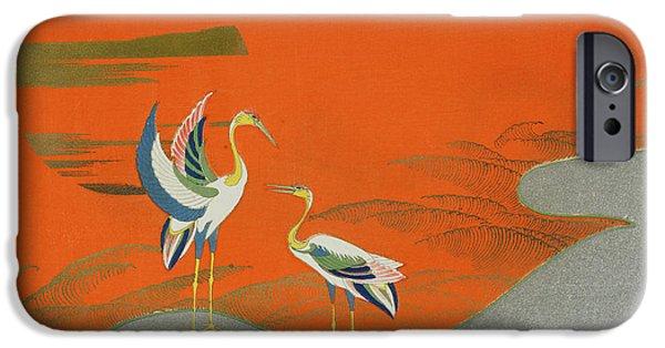 Birds At Sunset On The Lake IPhone 6s Case by Kamisaka Sekka