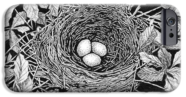 Bird's Nest IPhone Case by Janet King