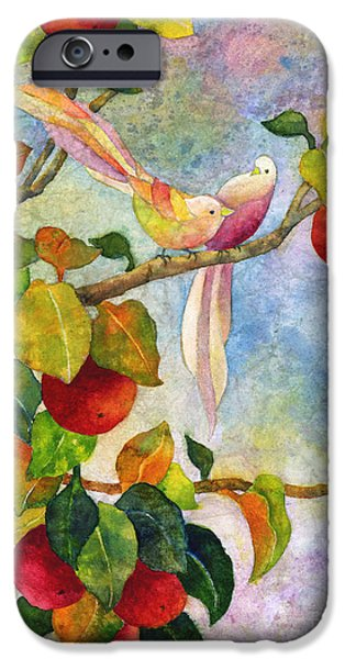 Birds On Apple Tree IPhone Case by Hailey E Herrera