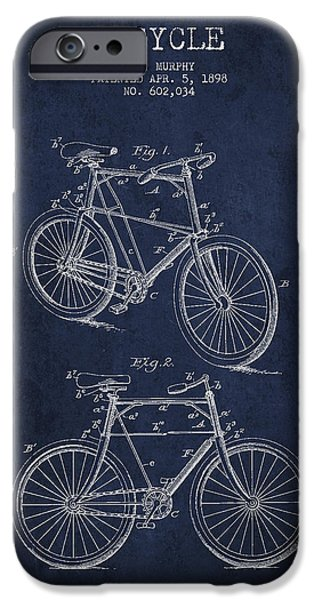 Bisycle Patent Drawing From 1898 IPhone Case by Aged Pixel