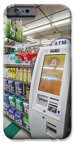 Bitcoin Atm IPhone Case by Jim West