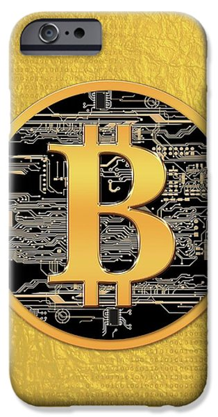 Bitcoin Logo IPhone Case by Victor Habbick Visions
