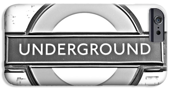 Black And White Underground IPhone 6s Case by Georgia Fowler