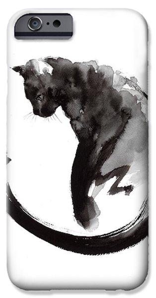 Black Cat IPhone 6s Case by Mariusz Szmerdt