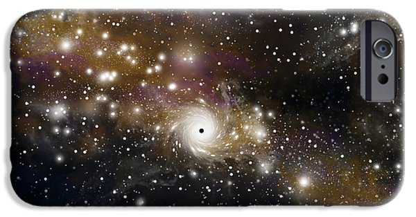 Black Hole No.4 IPhone Case by Marc Ward