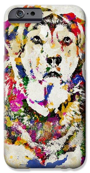 Black Lab Watercolor Art IPhone Case by Christina Rollo