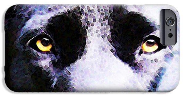 Black Labrador Retriever Dog Art - Lab Eyes IPhone 6s Case by Sharon Cummings