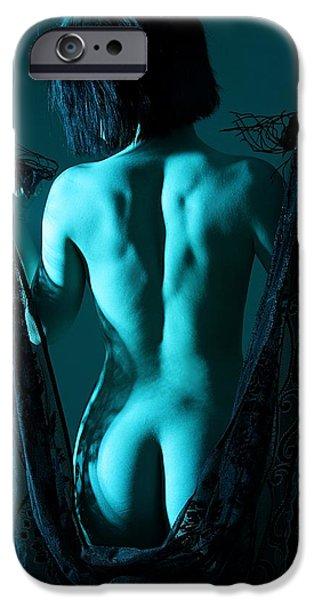 Black Lace IPhone Case by Joe Kozlowski