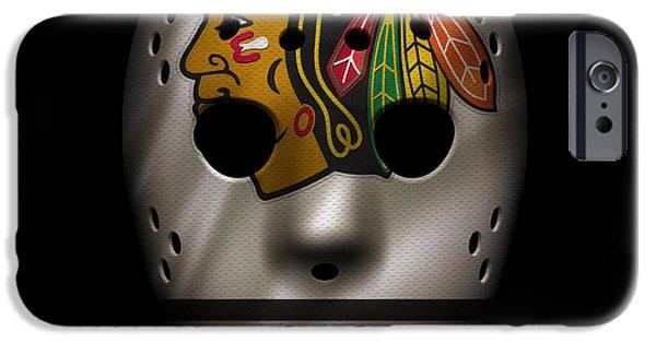 Blackhawks Jersey Mask IPhone Case by Joe Hamilton
