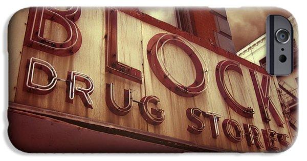 Block Drug Store - New York IPhone Case by Jim Zahniser