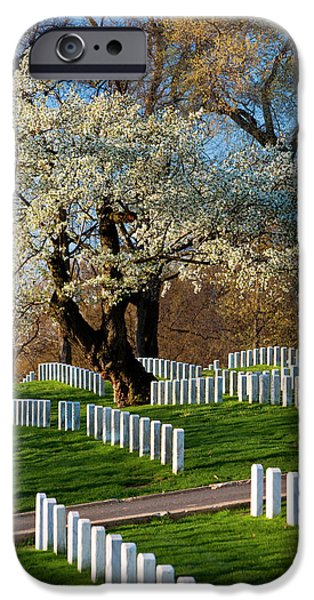 Blossoming Cherry Trees At Arlington IPhone Case by Brian Jannsen