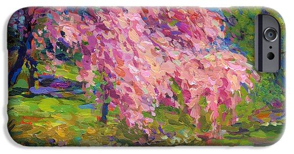 Blossoming Trees Landscape  IPhone Case by Svetlana Novikova