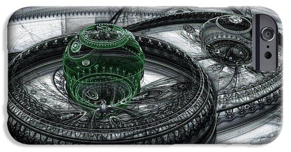 Dark Alien Landscape IPhone Case by Martin Capek