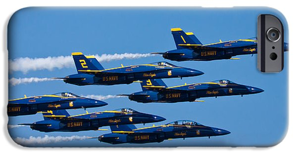 Blue Angels IPhone Case by Adam Romanowicz