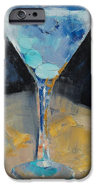 Blue Art Martini IPhone 6s Case by Michael Creese