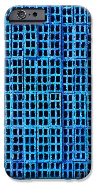 Blue Brick Wall IPhone Case by Carlos Caetano