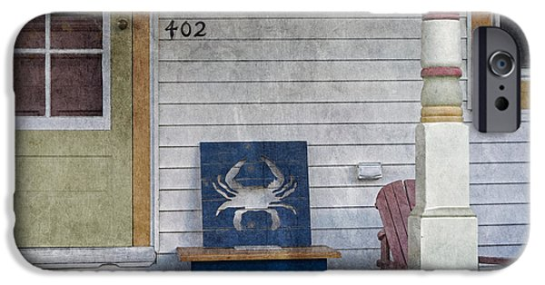 Blue Crab Chair IPhone Case by Brian Wallace
