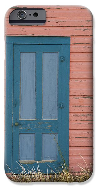 Blue Entrance Door IPhone Case by Juli Scalzi