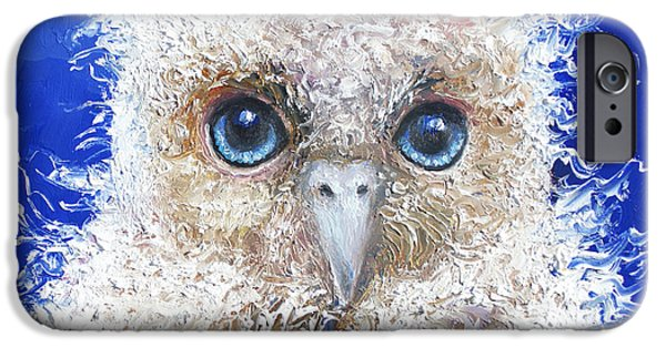 Blue Eyed Owl Painting IPhone 6s Case by Jan Matson