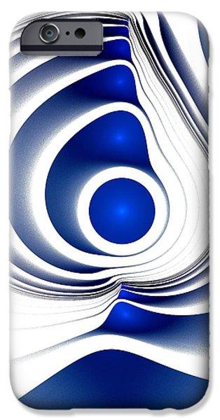 Blue Imprint IPhone Case by Anastasiya Malakhova