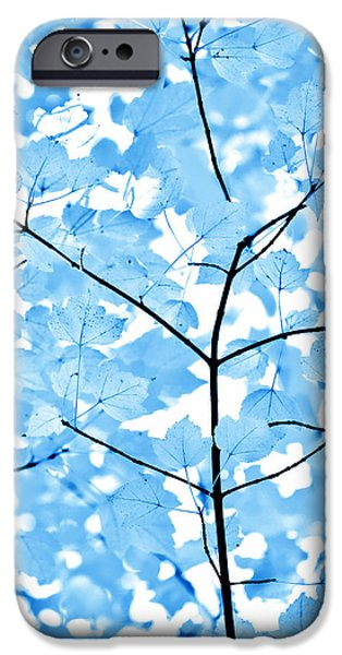 Blue Leaves Melody IPhone 6s Case by Jennie Marie Schell