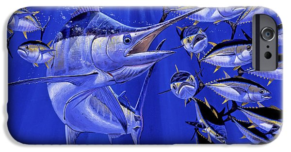 Blue Marlin Round Up Off0031 IPhone Case by Carey Chen