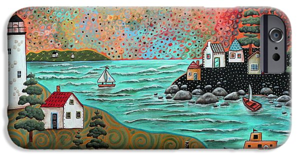 Blue Sea IPhone Case by Karla Gerard