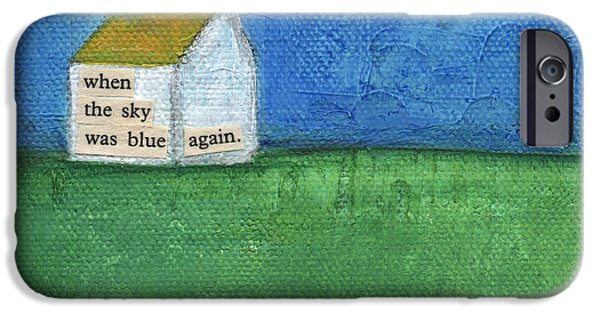 Blue Sky Again IPhone Case by Linda Woods