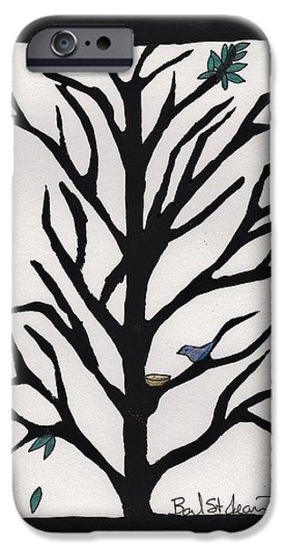 Bluebird In A Pear Tree IPhone Case by Barbara St Jean