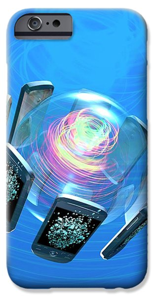 Bluetooth Conceptual Artwork IPhone Case by Victor Habbick Visions