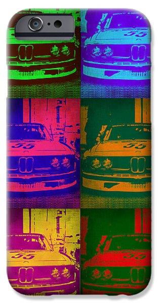 Bmw 2002 Front Pop Art 1 IPhone Case by Naxart Studio
