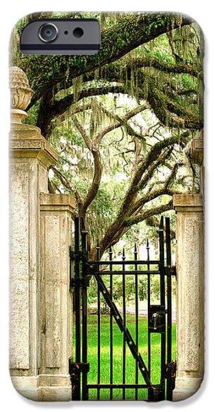 Bonaventure Cemetery Gate Savannah Ga IPhone Case by William Dey