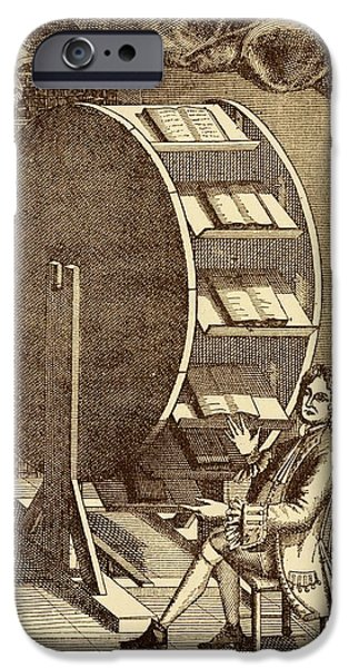 Bookwheel Illustration. IPhone Case by David Parker