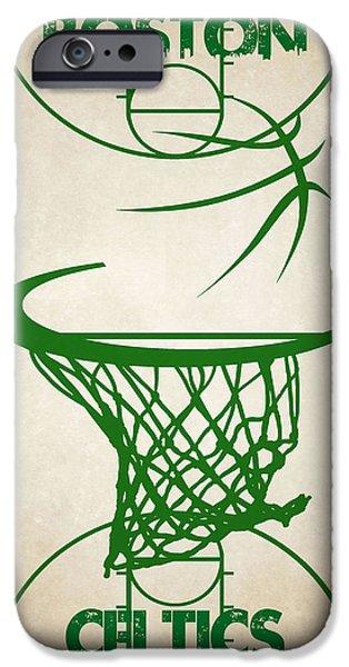 Boston Celtics Court IPhone Case by Joe Hamilton