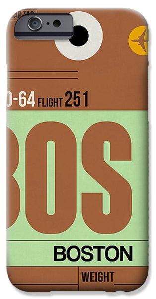 Boston Luggage Poster 1 IPhone Case by Naxart Studio