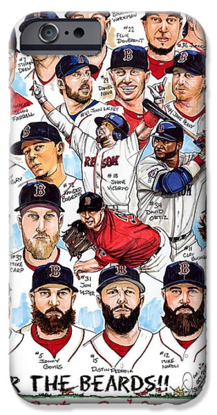 Boston Red Sox Ws Champions IPhone Case by Dave Olsen